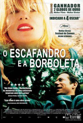 Cartaz do filme O ESCAFANDRO E A BORBOLETA – Le Scaphandre et le Papillon