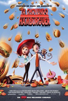 Cartaz do filme TÁ CHOVENDO HAMBÚRGUER – Cloudy with a Chance of Meatballs