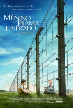 Cartaz do filme O MENINO DO PIJAMA LISTRADO – The Boy in the Striped Pijamas