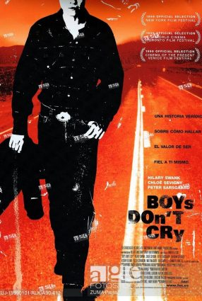 Cartaz do filme MENINOS NÃO CHORAM – Boys Don't Cry