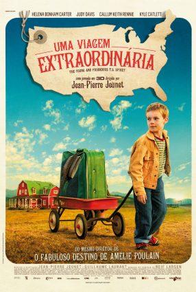 Cartaz do filme UMA VIAGEM EXTRAODINÁRIA – L'Extravagant voyage du jeune et prodigieux T.S. Spivet