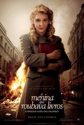 Cartaz do filme A MENINA QUE ROUBAVA LIVROS – The Book Thief