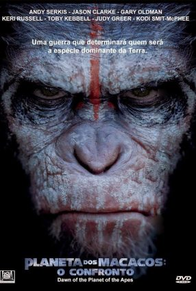Cartaz do filme PLANETA DOS MACACOS – O CONFRONTO – Dawn of the Planet of the Apes