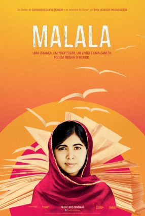 Cartaz do filme MALALA – He Named Me Malala