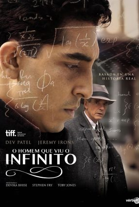 Cartaz do filme O HOMEM QUE VIU O INFINITO – The Man Who Knew Infinity