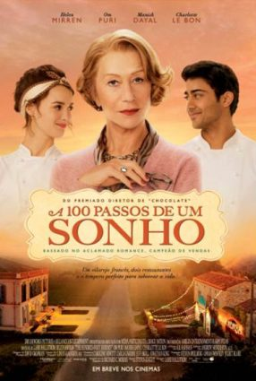 Cartaz do filme A 100 PASSOS DE UM SONHO – The Hundred-Foot Journey