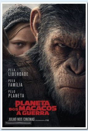 Cartaz do filme O PLANETA DOS MACACOS – A GUERRA | War for the Planet of the Apes