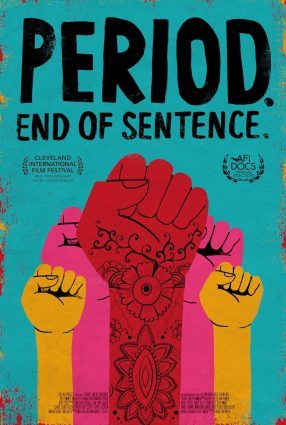 Cartaz do filme ABSORVENDO O TABU – Period. End of Sentence.